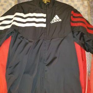 Adidas zip up . Half wind Breaker half cotton